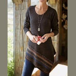 Soft Surroundings Raku Marled Brown Sweater